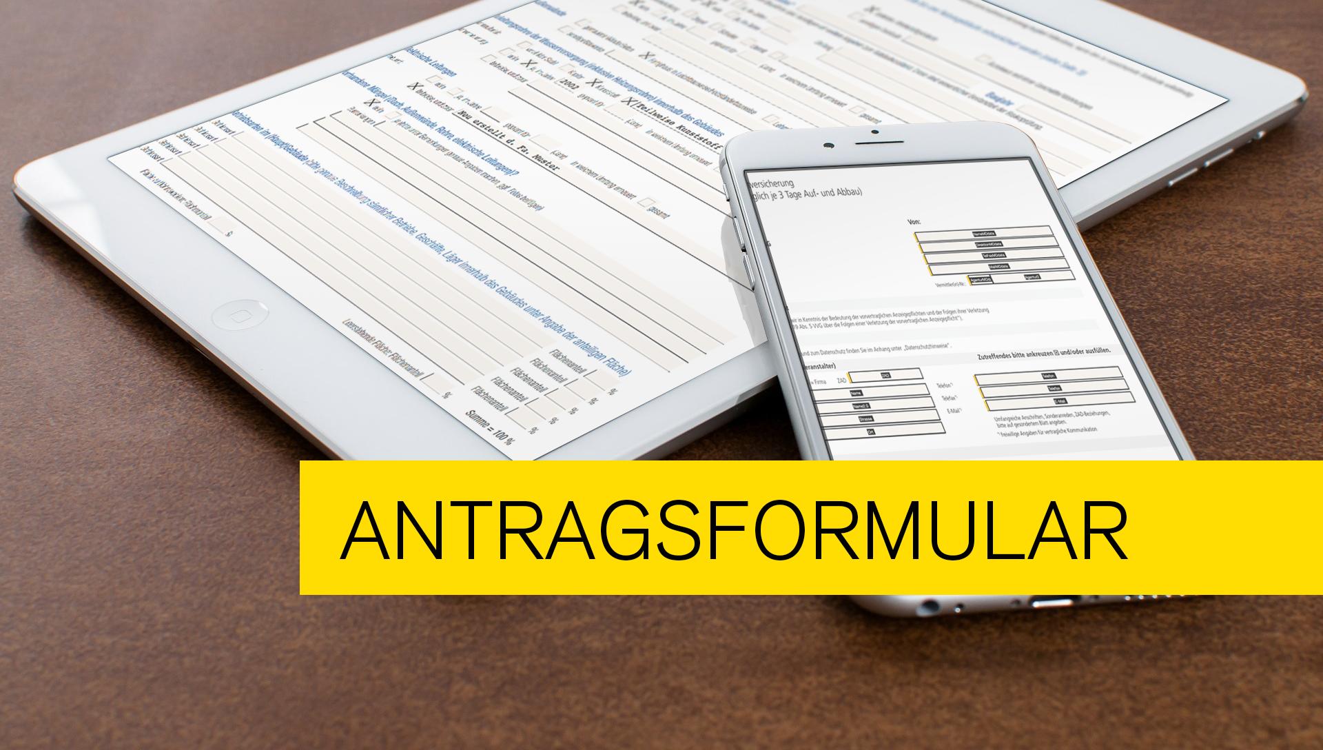 Titelbild zu einer Kundenlösung - PDF Formular als Antragsformular