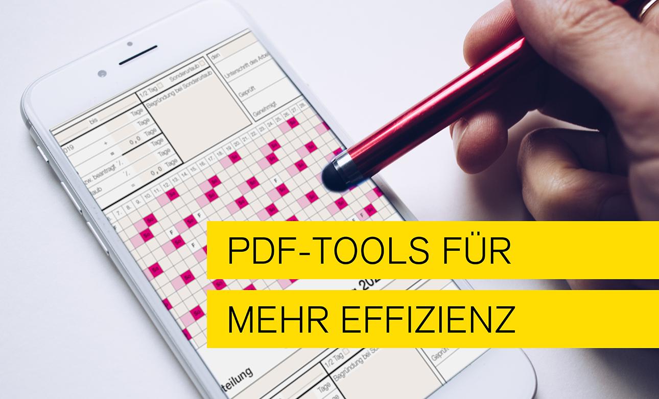titelbild zum Blogthema PDF Tools für mehr Effizienz