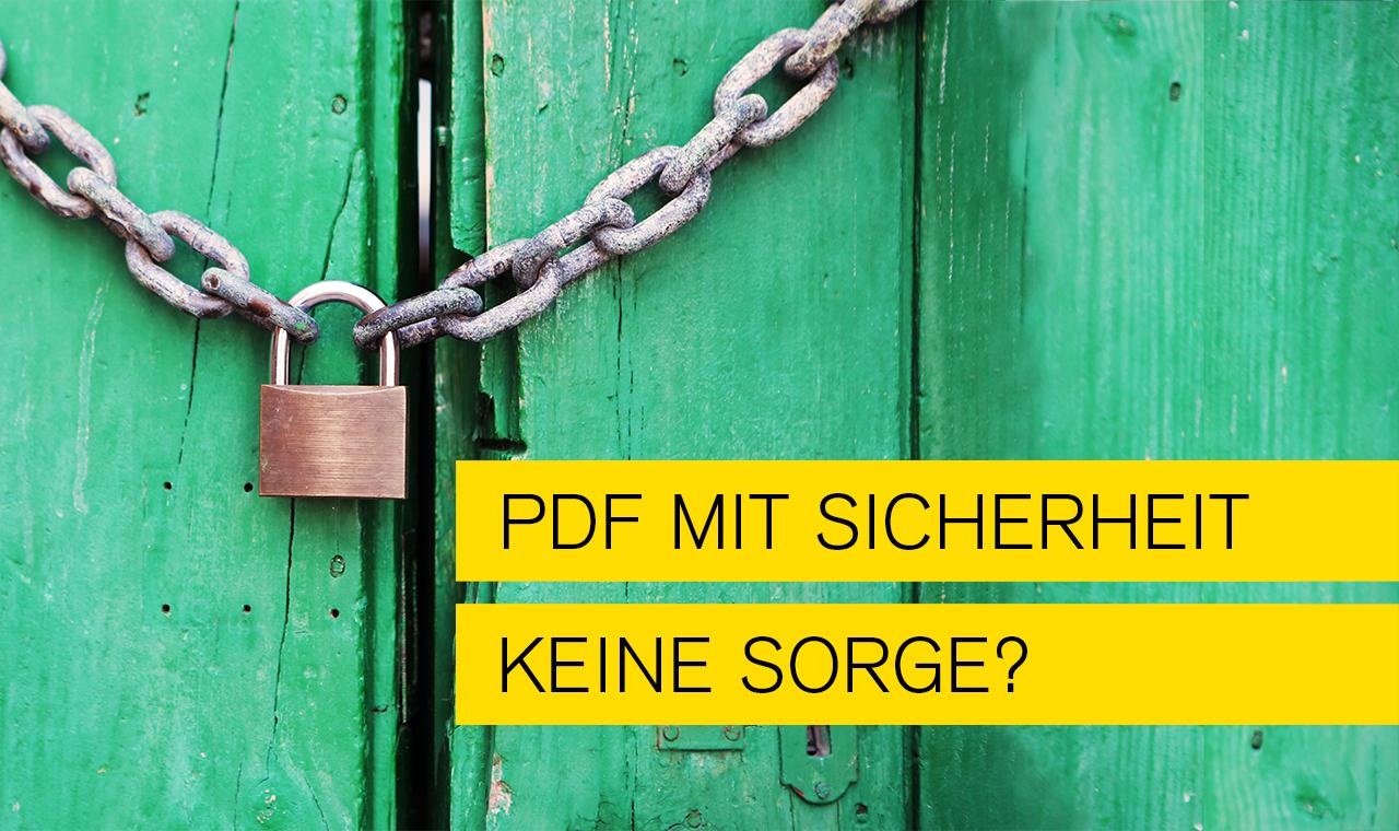 Titelbild zum Blogthema Sicherheit und PDF