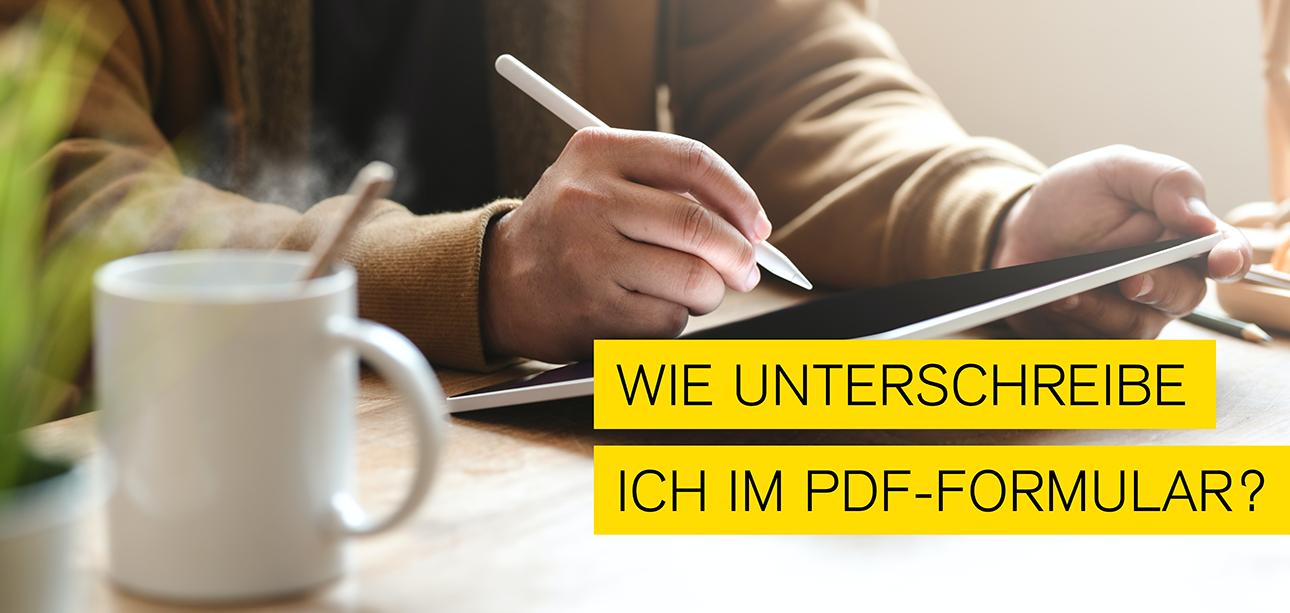 Blogbeitrag zum Thema wie man im PDF unterschreiben kann
