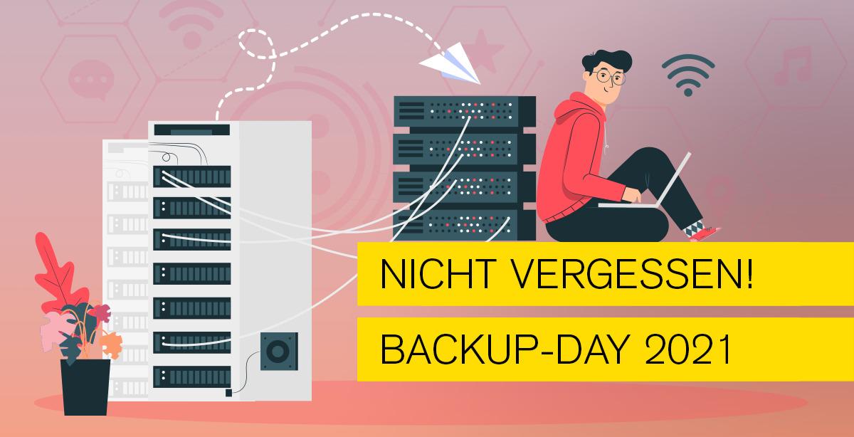 Titelbild zum Blogthema Backupday 2021 von Typo Art