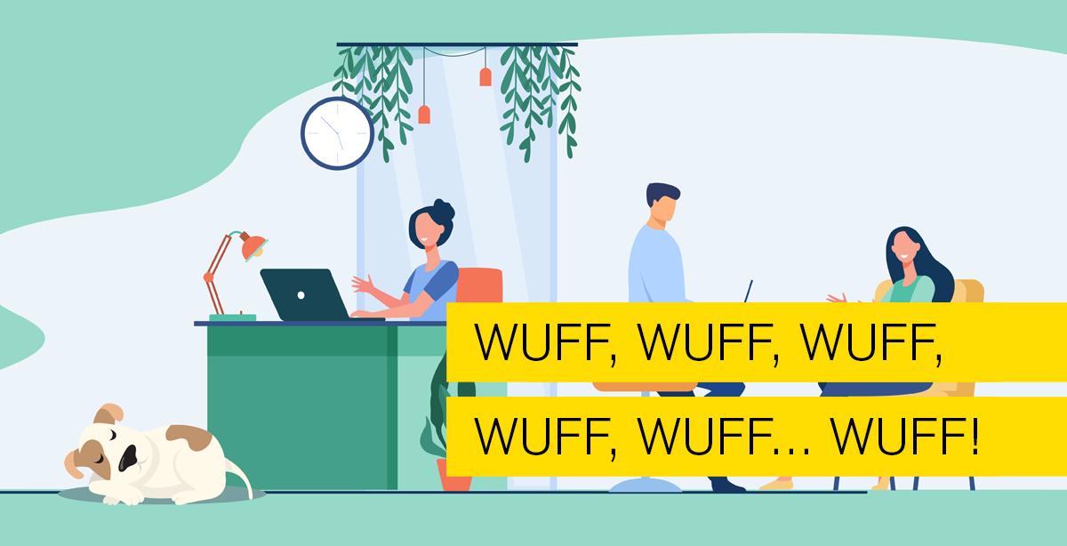 Titelbild zum PDF Blog: Bürohund. Blogthema von Typo Art